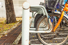 Bicycle parking Stock Photography