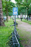 Bicycle parking sign Royalty Free Stock Images