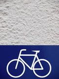 Bicycle parking sign (3) Royalty Free Stock Images