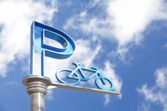 Bicycle parking sign Stock Photos