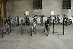 Bicycle Parking Royalty Free Stock Images