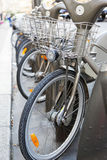 Bicycle Parking spaces Royalty Free Stock Photos