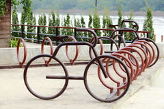 The bicycle parking Royalty Free Stock Photography