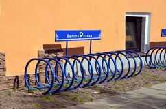Bicycle parking Royalty Free Stock Photos