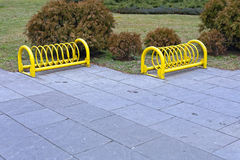 Bicycle Parking Stand Stock Photo