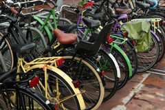 Bicycle parking station in Amsterdam, Netherlands Stock Images