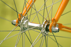 Bicycle part, front axis Royalty Free Stock Images