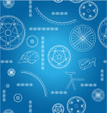 Bicycle parts background Stock Photography