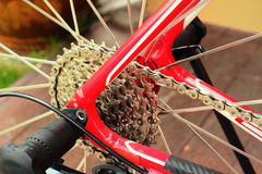 Of bicycle parts Royalty Free Stock Photo