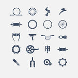Bicycle parts icons. Simple icons, icon Royalty Free Stock Image