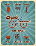 Bicycle parts poster Royalty Free Stock Photos