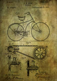 Bicycle patent from 1890. Patent Art - Fine Art Photograph Based On Original Patent Artwork Researched Royalty Free Stock Photography