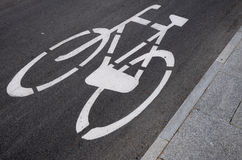 Bicycle path Stock Images
