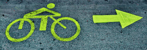 Bicycle path 2 Royalty Free Stock Photo
