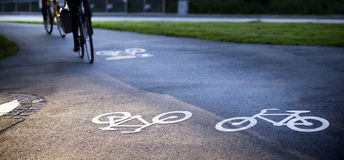 Bicycle path Royalty Free Stock Image