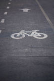Bicycle path. On road side Stock Photography