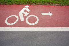 Bicycle path. In park pathway Stock Image