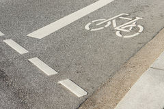 Bicycle path. Street  symbol way Stock Photo