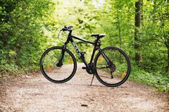 Bicycle on path Stock Photography