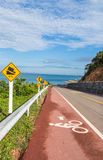 Bicycle path along the beach Stock Image