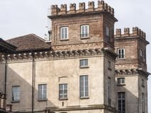 Bikeway along the Naviglio Grande, Palazzo Archinto at Robecco Royalty Free Stock Photo