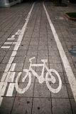 Bicycle path royalty free stock photo
