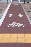 Bicycle path in Japan Royalty Free Stock Photography