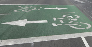 Bicycle path in Melbourne,  Australia Royalty Free Stock Image