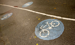 For bicycle. Bicycle path is not filthy Stock Images