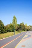 Bicycle Path in a Park Stock Image