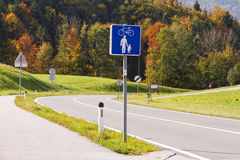 Bicycle path Stock Photography