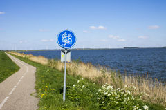 Bicycle path by the sea Stock Photo