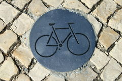 Bicycle path sign Stock Image