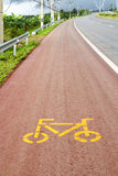 Bicycle path symbol Royalty Free Stock Photography