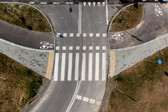 Bicycle path top view, bicycle road Royalty Free Stock Photos