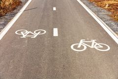 Bicycle path Stock Photo