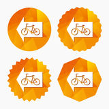Bicycle path trail sign icon. Cycle path. Royalty Free Stock Images