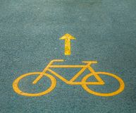 Bicycle path Royalty Free Stock Images