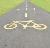 Bicycle Pathway Royalty Free Stock Images