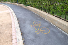 Bicycle pathway Royalty Free Stock Photo