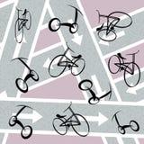 Bicycle pattern Royalty Free Stock Image
