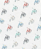 Bicycle pattern on textured watercolor paper Royalty Free Stock Photography