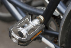 Bicycle pedal. Detail of an old bicycle pedal Royalty Free Stock Photography