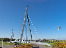 Bicycle and pedestrian bridge Stock Image