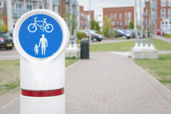 Bicycle and pedestrian lane Royalty Free Stock Photo
