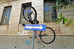 Bicycle pending Stock Images