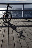 Bicycle at the pier Royalty Free Stock Photos