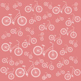 Bicycle pink vector seamless pattern Stock Photo