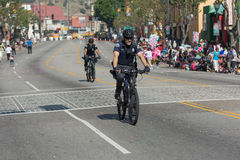Bicycle Police officer during the 117th Golden Dragon Parade, Royalty Free Stock Photography