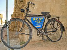 Bicycle Post Royalty Free Stock Photography